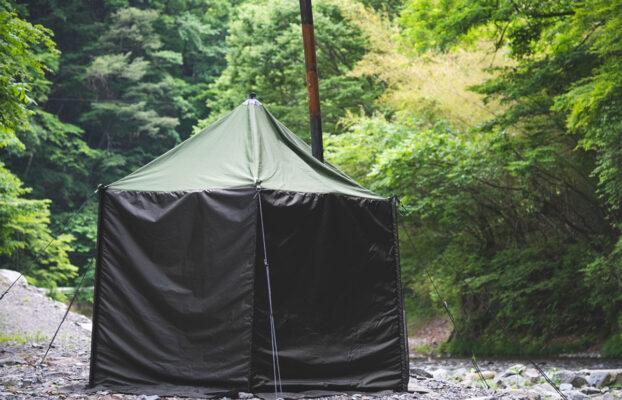 多摩源流域の小菅川でサウナテントが楽しめます!
